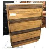 NEW Rustic Style 3 Drawer Night Stand  Auction Estimate $50-$100 – Located Inside