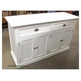 NEW White Contemporary Low Chest  Auction Estimate $100-$300 – Located Inside