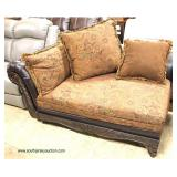 NEW Contemporary Upholstered and Leather Like Sofa and Chaise  Auction Estimate $200-$400 – Located