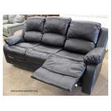 NEW Leather Sofa with Recliners  Auction Estimate $300-$600 – Located Inside
