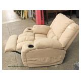 NEW Velour Recliner with Drink Holders  Auction Estimate $200-$400 – Located Inside