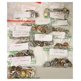 Selection of Foreign Money including Africa, Italy, English, Great Britain, Hong Kong, China, Asia,