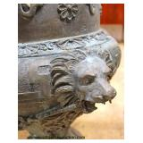 PAIR of ANTIQUE Lion and Lady Head Bronze Planters  Located Inside – Auction Estimate $300-$600