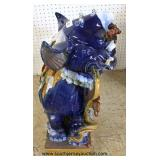 "PAIR of Porcelain Foo Dogs  (approximately 30"" high)  Auction Estimate $300-$600 – Located Inside"