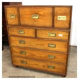 "Mid Century ""Baker Furniture"" 2 Piece Campaign Style Chest  Auction Estimate $300-$600 – Located In"