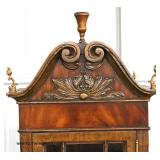 "NICE ""Maitland Smith Furniture"" Burl Mahogany Banded and Inlaid Petite Display Cabinet with Bronze"