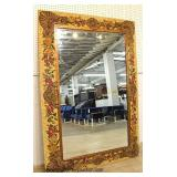 "Large Italian Hand Painted Decorator Mirror  (approximate 52"" Wide x 77"" High or 77"" Wide x 52"" Hig"