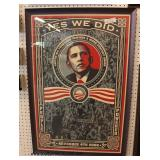 "44th United States President Barack Obama ""Yes We Did"" Election Day Tribute  Located Inside – Aucti"