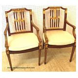 "PAIR of ""Maitland Smith Furniture"" Mahogany Arm Chairs  Auction Estimate $200-$400 – Located Inside"