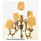 VINTAGE Candelabra Pole Lamp with Shades  Auction Estimate $200-$400 – Located Inside