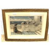 "Neo Classical ""Idle Moments"" Painting signed ""Henry Ryland""  Auction Estimate $200-$1000 – Located"