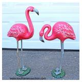 Selection of Outdoor and Garden Cast Iron Flamingo's and Herrings  Auction Estimate $50-$100 each –