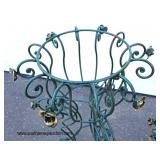 Pair of Outdoor Metal 2 Tier Flower Planters with Hand Painted Decorative Flowers  Auction Estimate