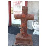 Cast Iron Painted Cross  Auction Estimate $100-$200 – Located Out Front