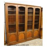 "2 Piece ""Baker Furniture"" Burl Walnut 4 Door Bookcase Display Cabinet  Auction Estimate $300-$600 –"