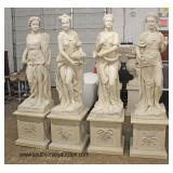 Life Size Composition of the Four Seasons with Pedestals  Auction Estimate $1000-$2000 – Located Ou