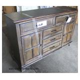 "NEW ""Lane Furniture"" Rustic Style 2 Door 5 Drawer Buffet  Auction Estimate $200-$400 – Located Insi"