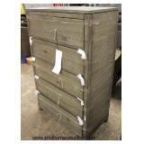 NEW Rustic Style 5 Drawer High Chest  Auction Estimate $100-$300 – Located Inside