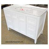 "NEW 48"" Marble Top Bathroom Vanity  Auction Estimate $200-$400- Located Inside"