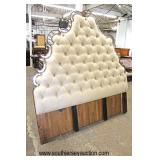 NEW King Size Button Tufted Decorator Headboard with Mirror Accents  Auction Estimate $200-$400 – L