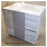 NEW Grey Washed Lacquer 2 Drawer Night Stand  Auction Estimate $50-$100 – Located Inside