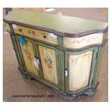 "NEW ""Stein World"" Paint Decorated 2 Door 1 Drawer Credenza  Auction Estimate $200-$400 – Located In"