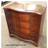 Mahogany Leather Top Serpentine Front 4 Drawer Bachelor Chest  Auction Estimate $100-$300 – Located