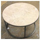 Round Marble Top Metal Base Coffee Table  Auction Estimate $100-$200 – Located Inside