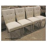 NEW Set of 4 Upholstered Button Tufted Decorator Side Chairs  Auction Estimate $100-$300 – Located