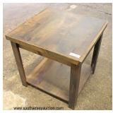 NEW Rustic Style Lamp Table  Auction Estimate $50-$100 – Located Inside