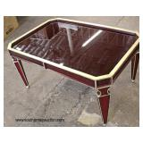 Decorator Coffee Table with Painted Gold Accents  Auction Estimate $100-$200 – Located Inside
