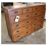 "NEW ""Intercon Furniture For Life"" Made of SOLID American Red Oak 12 Drawer Chest Nice  Auction Esti"