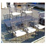 NEW 9 Piece Casted Aluminum Patio Table and 8 Chairs  Auction Estimate $300-600 – Located Field
