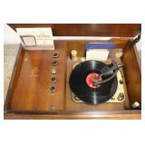 "VINTAGE ""Fisher"" Stereo Record Player  Auction Estimate $100-$300 – Located Inside"