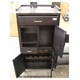Like New Wine Cheese Cabinet in the Espresso Finish  Auction Estimate $100-$300 – Located Inside