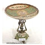 Antique Style Porcelain and Bronze Candy Compote  Auction Estimate $100-$300 – Located Inside