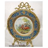 Antique Style Porcelain Bronze Wrap Plate  Auction Estimate $100-$300 – Located Inside