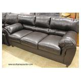NEW Contemporary Leather Sofa  Auction Estimate $300-$600 – Located Inside