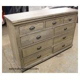NEW 9 Drawer Rustic Chest   Auction Estimate $100-$300 – Located Inside