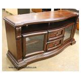 NEW Contemporary Media Cabinet in the Mahogany Finish   Auction Estimate $100-300 – Located Inside