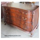 Burl Mahogany High Chest and Low Chest in the French Style   Auction Estimate $200-$400 – Located Do