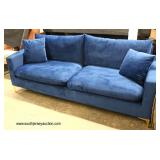 NEW Modern Design Blue Sofa   Auction Estimate $200-$400 – Located Inside