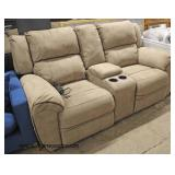 NEW Micro Fiber Double Power Recliner Loveseat   Auction Estimate $200-$400 – Located Inside