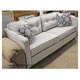 NEW Decorator Sofa with Accent Pillows   Auction Estimate $200-$400 – Located Inside