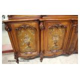 2 Piece VINTAGE Paint Decorated 4 Door China Cabinet in the Mahogany   Auction Estimate $300-$600 –