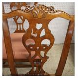 "NICE ""Century Furniture"" Set of 8 SOLID Mahogany Chippendale Style Dining Room Chairs   Auction Esti"