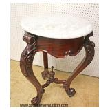 Rosewood Marble Top Lamp Table   Auction Estimate $100-$300 – Located Inside