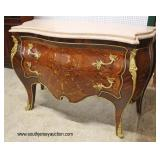 Antique Style French Inlaid Marble Top Chest with Applied Bronze   Auction Estimate $300-$600 – Loca
