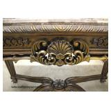 Mahogany Marble Top Decorator Sofa table in the manner of Maitland Smith Furniture   Auction Estimat