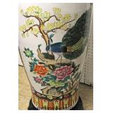 Palace Size Asian Decorated Vase on Stand   Auction Estimate $200-$400 – Located Inside